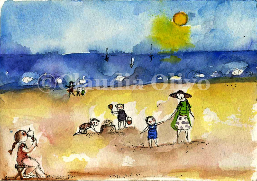 Sunset-at-the-Beach-Drawing